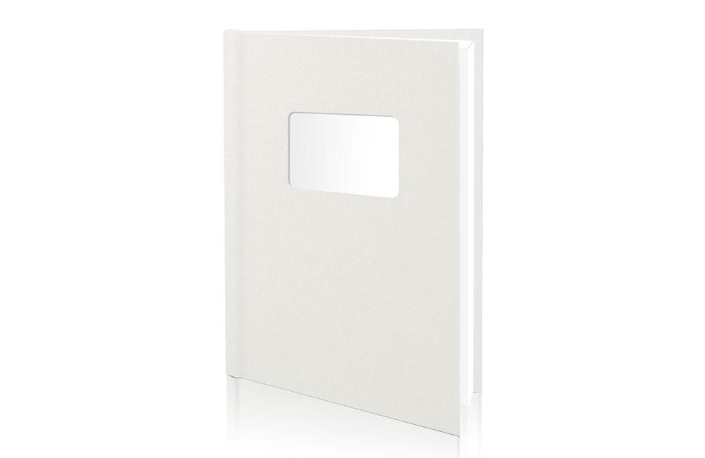 A4-Portrett-Perle-Hvit-X-book-Vindu innbinding http://www.unibind.no