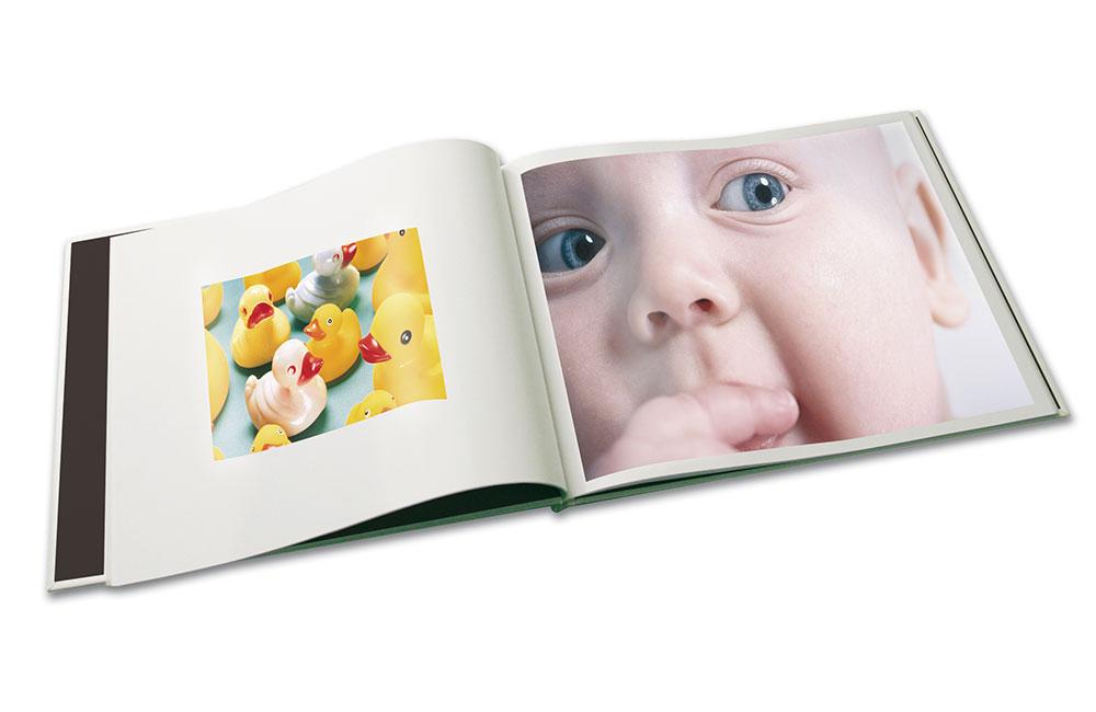 Åpen-bok-Baby innbinding http://www.unibind.no